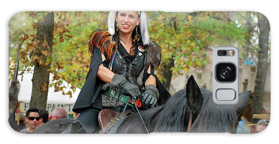 Teresa Blanton Galaxy S8 Case featuring the photograph Renaissance Rider by Teresa Blanton