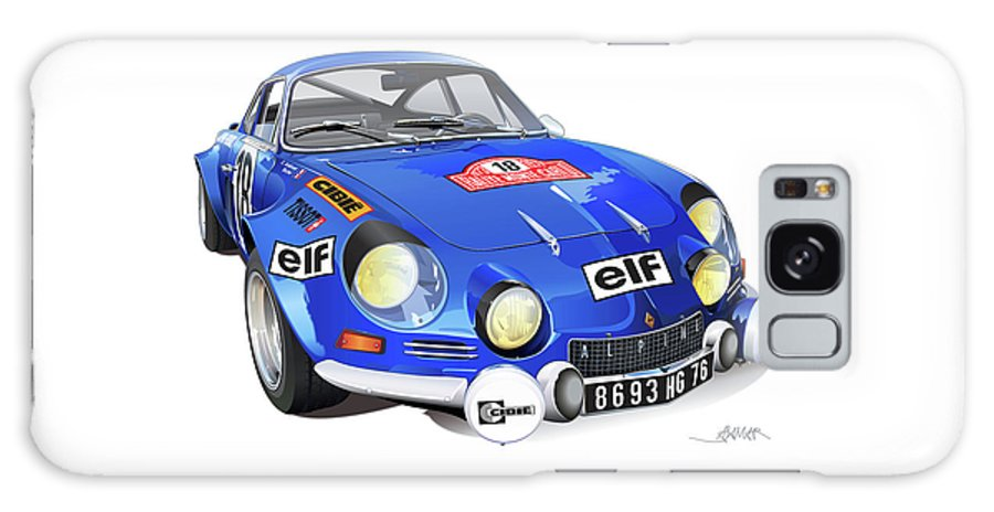 Transportation Galaxy S8 Case featuring the drawing Alpine Renault A110 by Alain Jamar