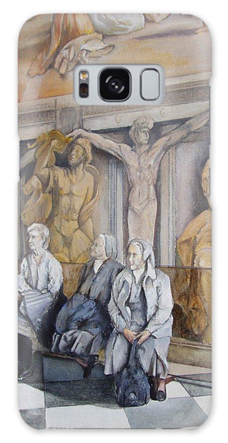 Vaticano Galaxy Case featuring the painting Reposo En El Vaticano by Tomas Castano