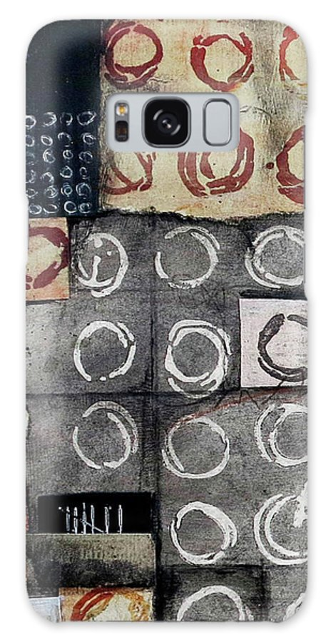 Collage Galaxy Case featuring the mixed media Resist Patterned Language by Laura Lein-Svencner