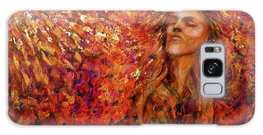 Sun Galaxy Case featuring the painting Resonance by Nik Helbig