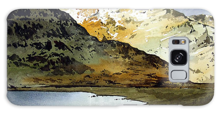 Watercolour Landscape Of Scottish Mountains Galaxy Case featuring the painting Rest And Be Thankful Pass by Paul Dene Marlor