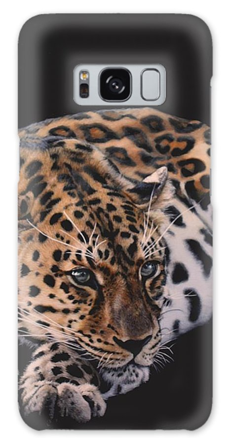 Leopard Galaxy S8 Case featuring the painting Resting Leopard by Susana Falconi