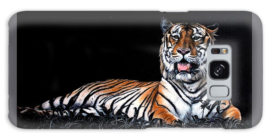 Tiger Galaxy S8 Case featuring the painting Resting Tiger by Susana Falconi