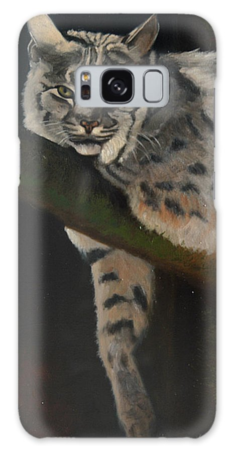 Bobcat Galaxy S8 Case featuring the painting Resting Up High by Greg Neal