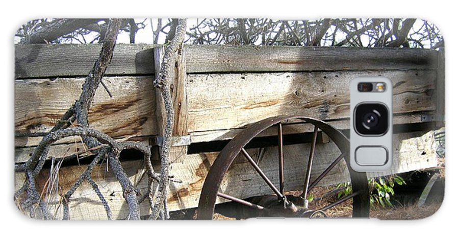 #retiredfarmwagon Galaxy S8 Case featuring the photograph Retired Farm Wagon by Will Borden