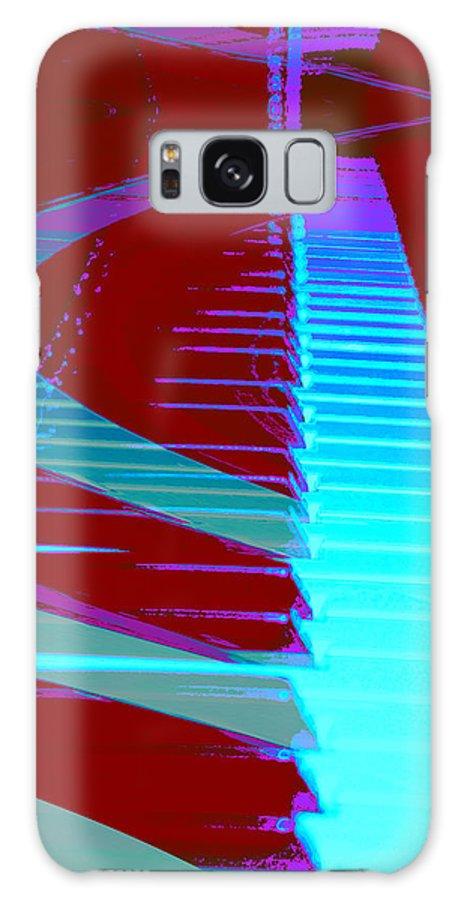 Piano Art Galaxy S8 Case featuring the photograph Retro Keys by Linda Sannuti