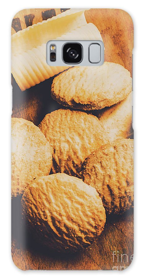Biscuits Galaxy S8 Case featuring the photograph Retro Shortbread Biscuits In Old Kitchen by Jorgo Photography - Wall Art Gallery