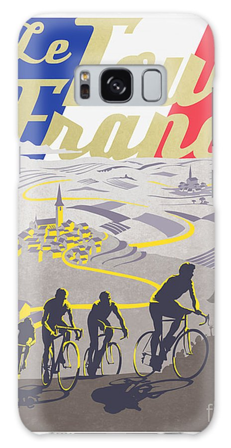 Vintage Tour De France Galaxy S8 Case featuring the painting Retro Tour De France by Sassan Filsoof