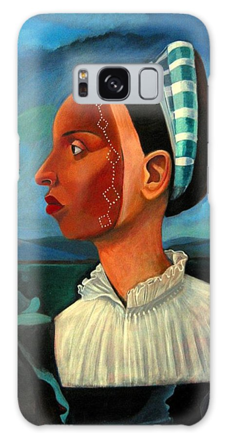 Woman Galaxy Case featuring the painting Revealed Truths And Myths IIi by Joyce Owens