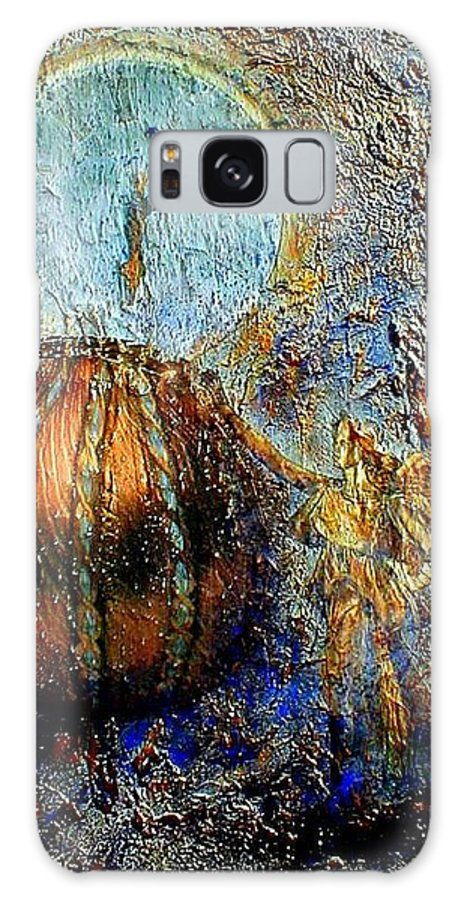 Christian Galaxy Case featuring the mixed media Revelation by Gail Kirtz