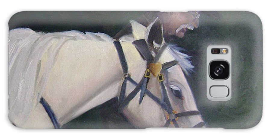 Old Man Horse... Galaxy Case featuring the painting revised- Man's Best Friend by Toni Berry