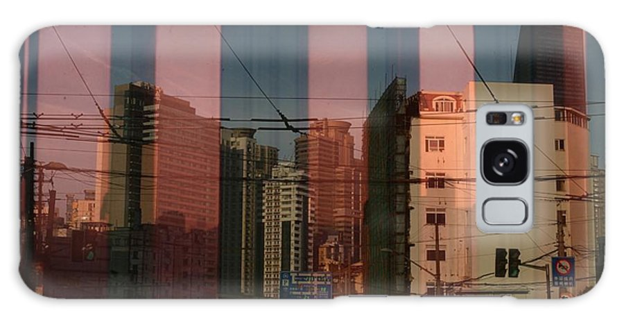 Cina Shanghai Art Revolution Photography Sunset City Panorama Artistic Pineapplses Buildings Progress Transformation Galaxy S8 Case featuring the photograph Revolution Is Not A Dinner Party by Andrea Foresta