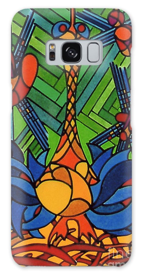 Blue Turkey Galaxy S8 Case featuring the drawing Rfb0539 by Robert F Battles