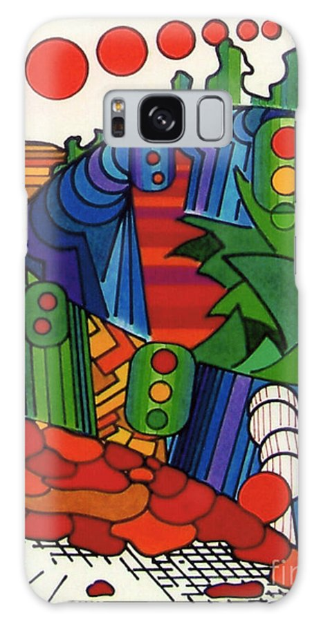 Abstract Galaxy S8 Case featuring the drawing Rfb0549 by Robert F Battles
