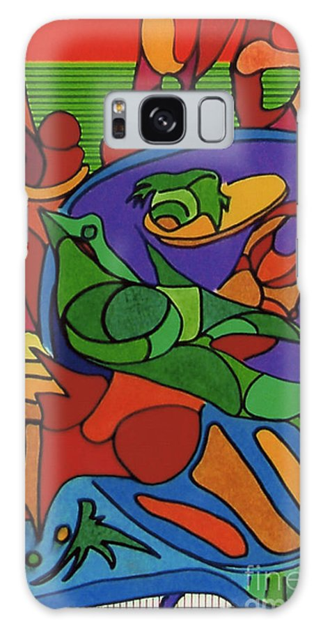 Abstract Galaxy S8 Case featuring the drawing Rfb0550 by Robert F Battles