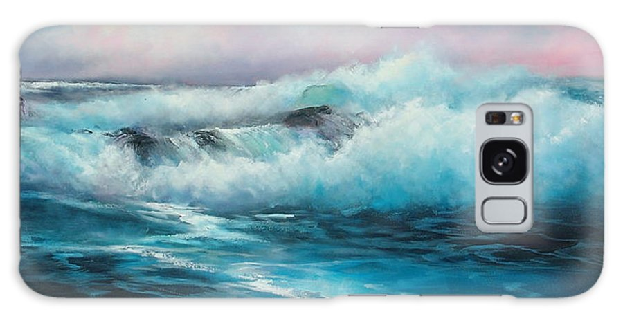 Seascape Galaxy S8 Case featuring the painting Rhapsody In Blue by Sally Seago