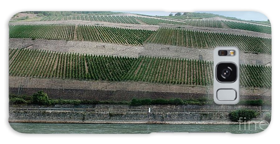 Rhine Galaxy S8 Case featuring the photograph Rhine Valley Vineyards Panorama by Thomas Marchessault