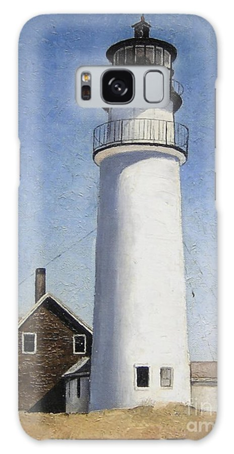 Lighthouse Galaxy S8 Case featuring the painting Cape Cod Light by Mary Rogers