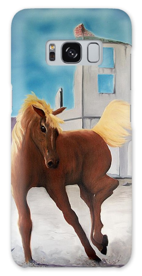 Galaxy S8 Case featuring the painting Rhyolite Pony by Patrick Trotter