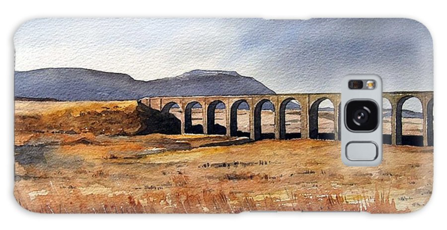 Landscape Galaxy Case featuring the painting Ribblehead Viaduct by Paul Dene Marlor