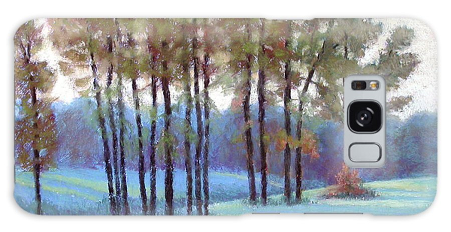 Early Evening Landscape Galaxy Case featuring the painting Ribbons Of Light by Julie Mayser