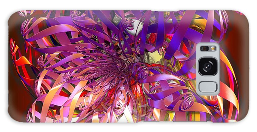 Abstract Galaxy S8 Case featuring the digital art Ribbons by Ron Bissett
