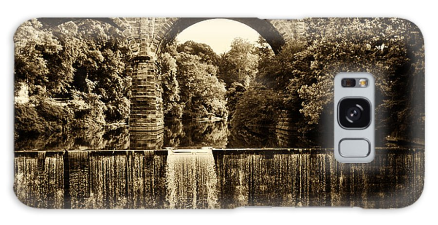 Falls Galaxy S8 Case featuring the photograph Ridge Avenue Falls Along The Wissahickon Creek by Bill Cannon