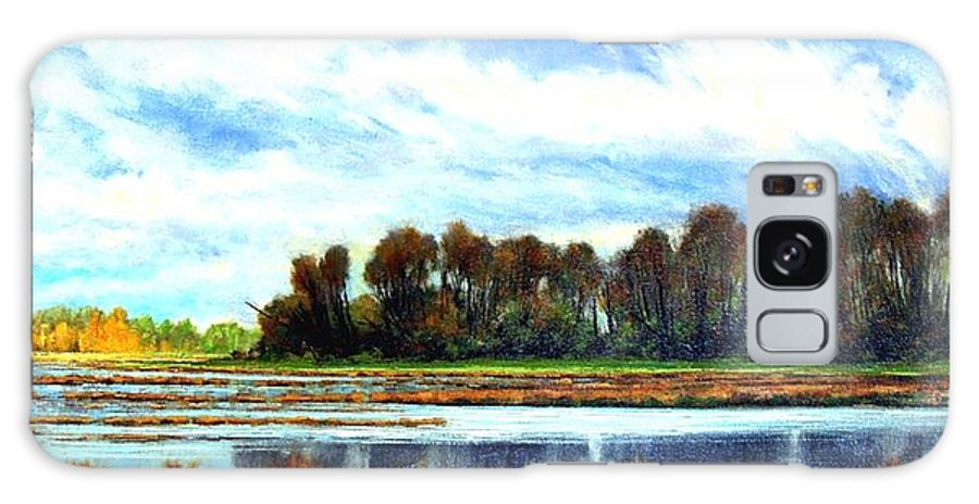 Landscapes Galaxy S8 Case featuring the painting Ridgefield Refuge Early Fall by Jim Gola