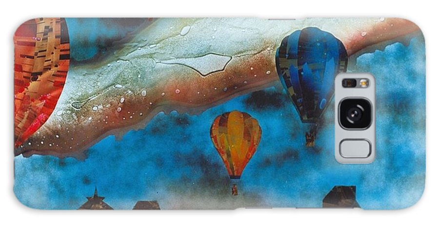 Landscape Galaxy Case featuring the painting Riding The Chinook by Rick Silas