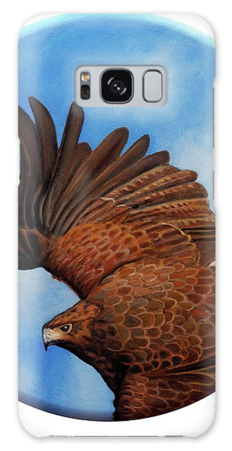 Hawk Galaxy Case featuring the painting Riding The Wind by Brian Commerford