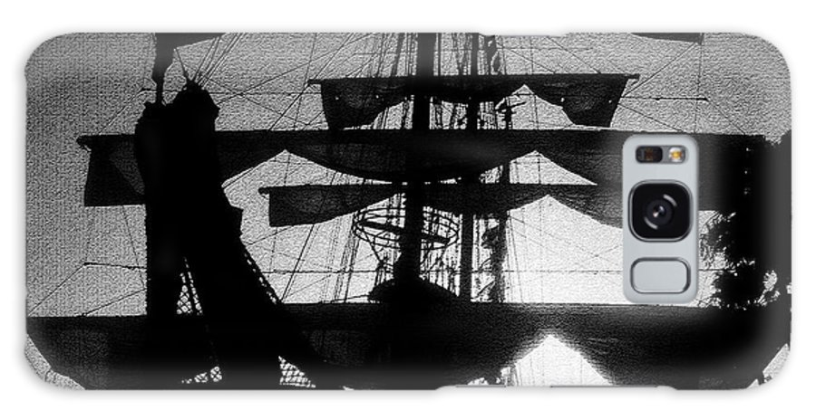 Sailing Ship Galaxy S8 Case featuring the painting Rigging And Sail by David Lee Thompson
