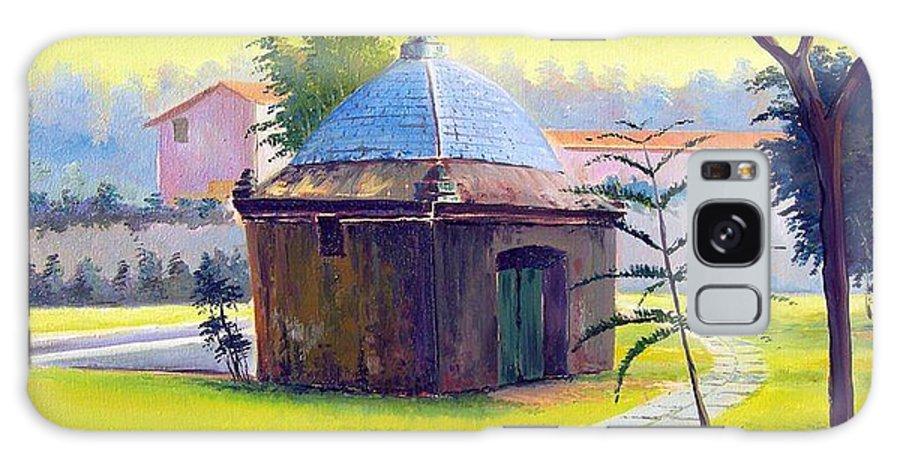 Cabo Frio Galaxy S8 Case featuring the painting Rio De Janeiro - Fonte Do Itajuru - Cabo Frio - Brasil - Green Day Series by Leomariano artist BRASIL