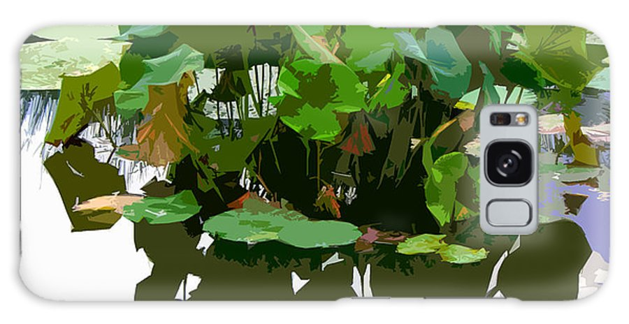 Lotus Galaxy S8 Case featuring the photograph Ripples On The Lotus Pond by John Lautermilch