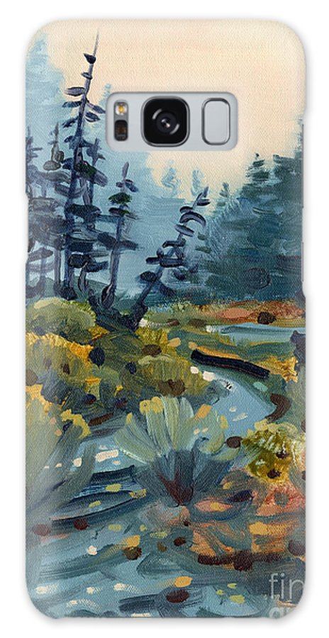 Russian River Galaxy S8 Case featuring the painting River Bend by Donald Maier
