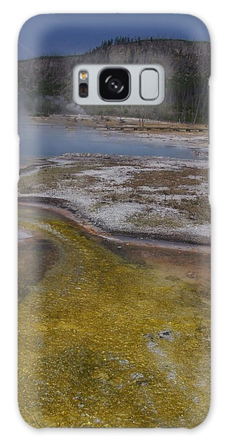 Geyser Galaxy S8 Case featuring the photograph River Of Gold by Gale Cochran-Smith
