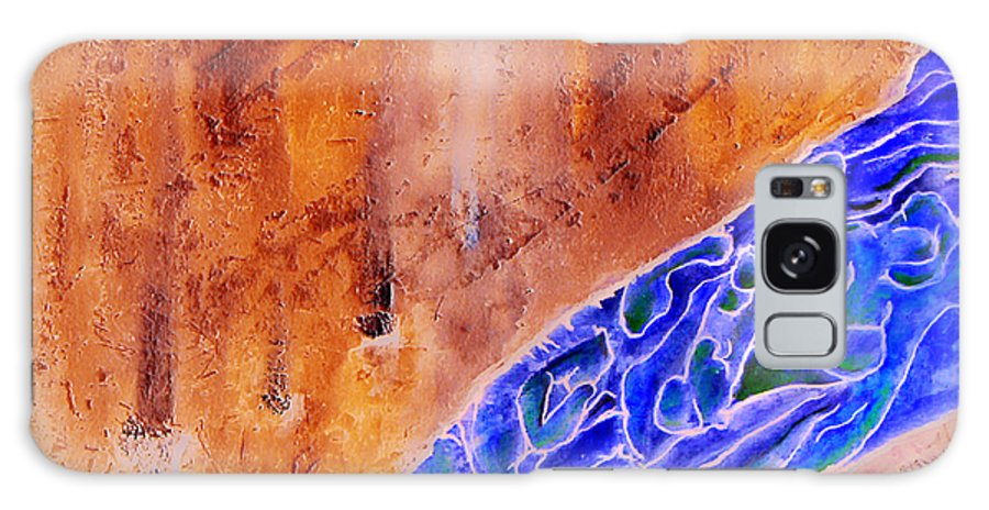 Life Flow River Water People Birth Galaxy Case featuring the mixed media River Of Life by Veronica Jackson
