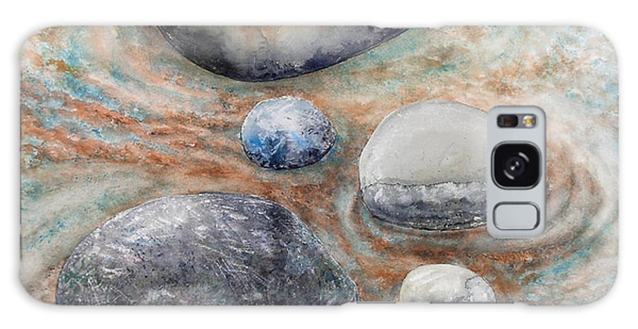 Abstract Galaxy Case featuring the painting River Rock 2 by Valerie Meotti