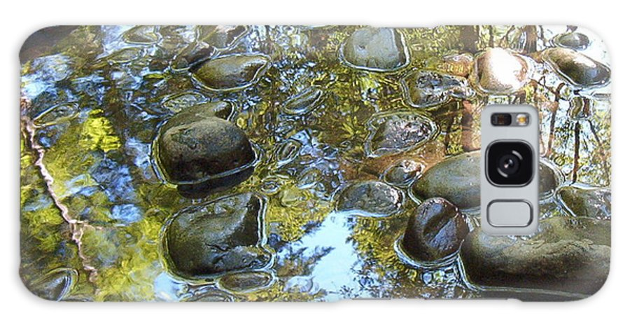 Stream Galaxy S8 Case featuring the photograph River Rocks by Suzanne Shepherd