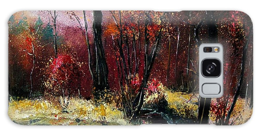 River Galaxy S8 Case featuring the painting River Ywoigne by Pol Ledent