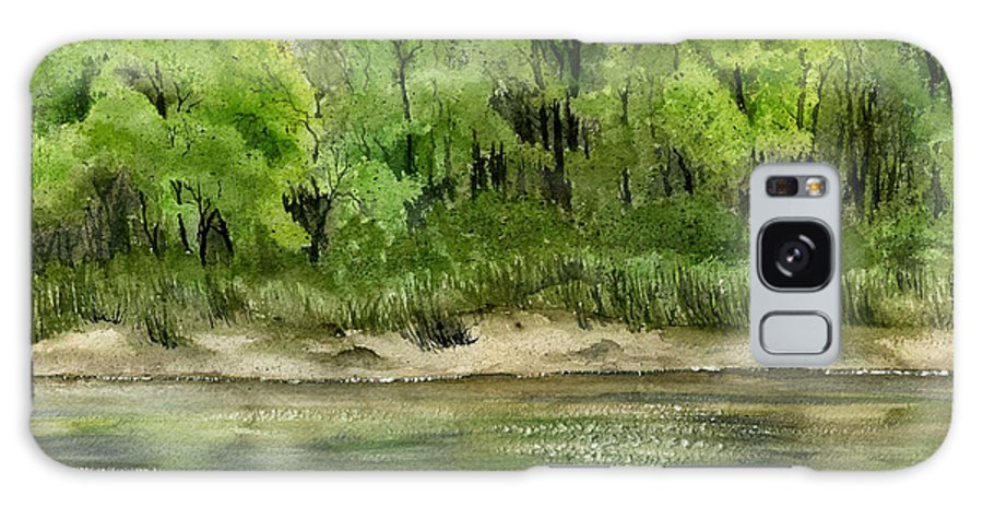 Water Galaxy S8 Case featuring the painting Riverbank by Mary Tuomi
