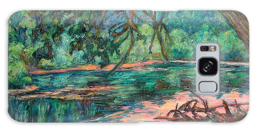 Riverview Park Galaxy S8 Case featuring the painting Riverview At Dusk by Kendall Kessler
