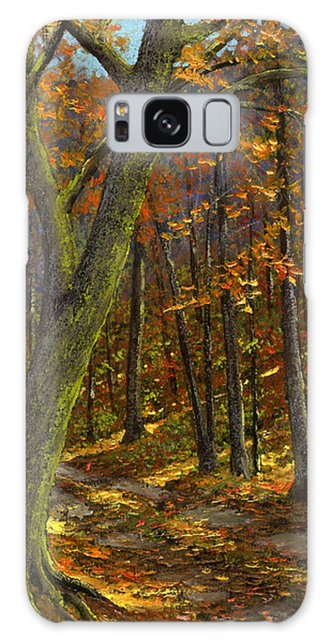 Landscape Galaxy Case featuring the painting Road In The Woods by Frank Wilson