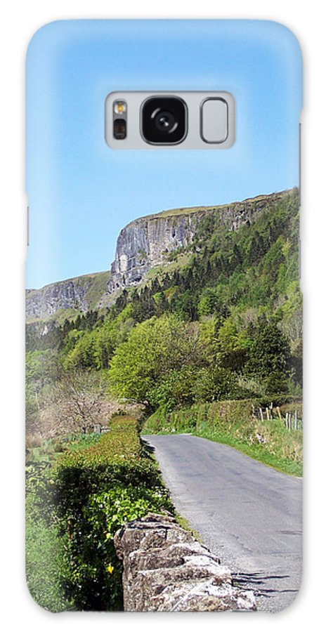Irish Galaxy Case featuring the photograph Road To Benbulben County Leitrim Ireland by Teresa Mucha