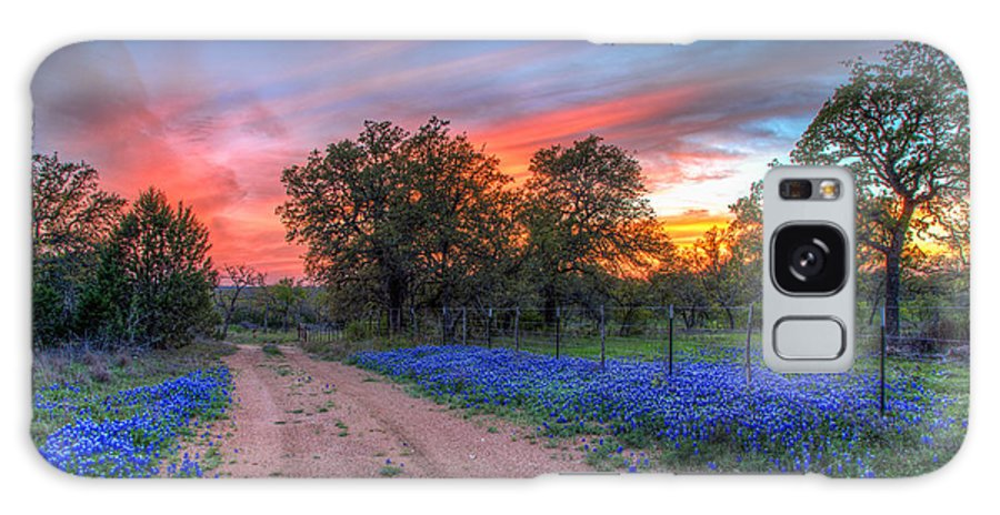 Blanco County Galaxy S8 Case featuring the photograph Road To Sunset by Tom Weisbrook