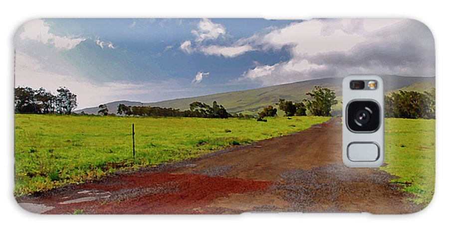 Hawaiian Landscape Galaxy S8 Case featuring the photograph Road To The Clouds by Bette Phelan