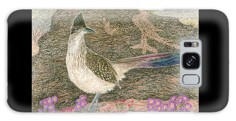 Roadrunner Galaxy Case featuring the drawing Roadrunner by Tim McCarthy