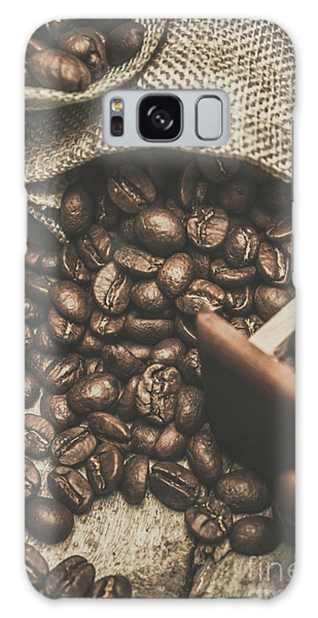 Bean Galaxy S8 Case featuring the photograph Roasted Coffee Beans In Close-up by Jorgo Photography - Wall Art Gallery