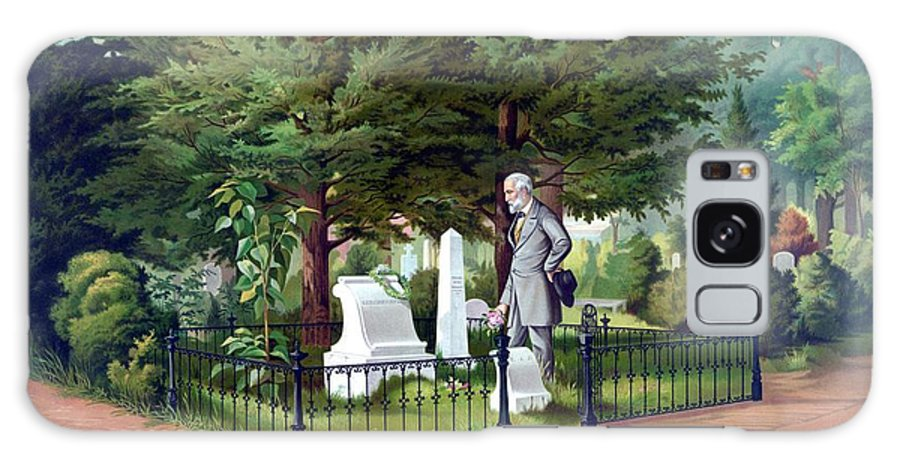 Robert E Lee Galaxy Case featuring the painting Robert E. Lee Visits Stonewall Jackson's Grave by War Is Hell Store