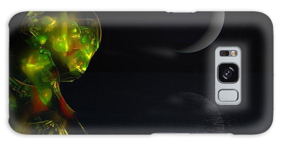 Abstract Digital Painting Galaxy S8 Case featuring the digital art Robot Moonlight Serenade by David Lane